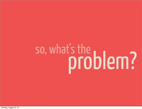 what s the so what s the problem tuesday