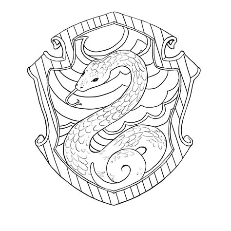 harry potter coloring pages slytherin slytherin house coloring pages