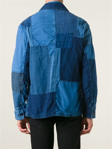 Patchwork Denim Jacket - blue blue japan patchwork denim jacket in blue for lyst
