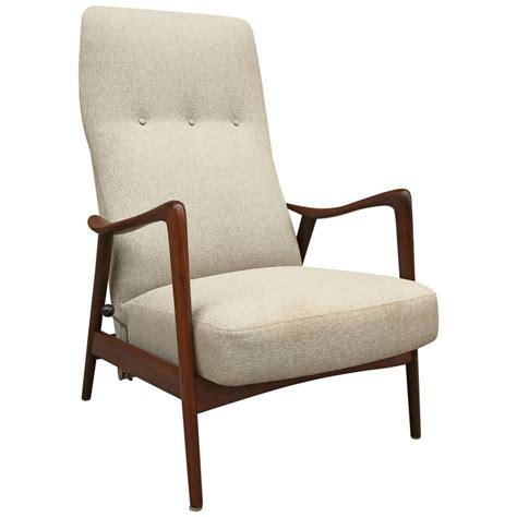 scandinavian reclining chairs scandinavian modern walnut recliner lounge chair westnofa