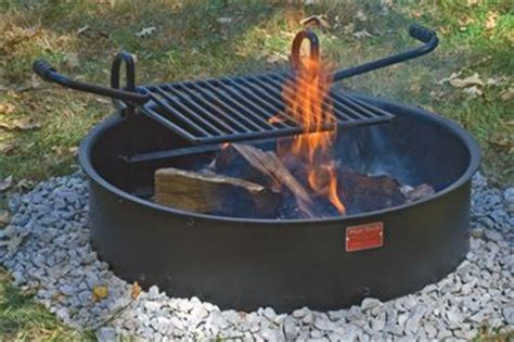pit ring with grill cfire cooksite firering grill pilot rock pit ring cooking grill bbq smokers