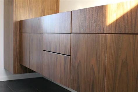 bathroom update floating walnut cabinetry dans le lakehouse