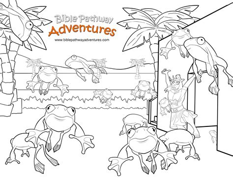 frog plague coloring page free bible coloring page plague of frogs frogs moses