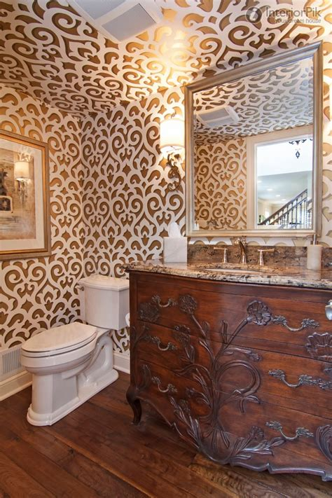 wallpaper patterns for bathroom awesome wallpaper for bathroom 8 small bathroom wallpaper designs bloggerluv com
