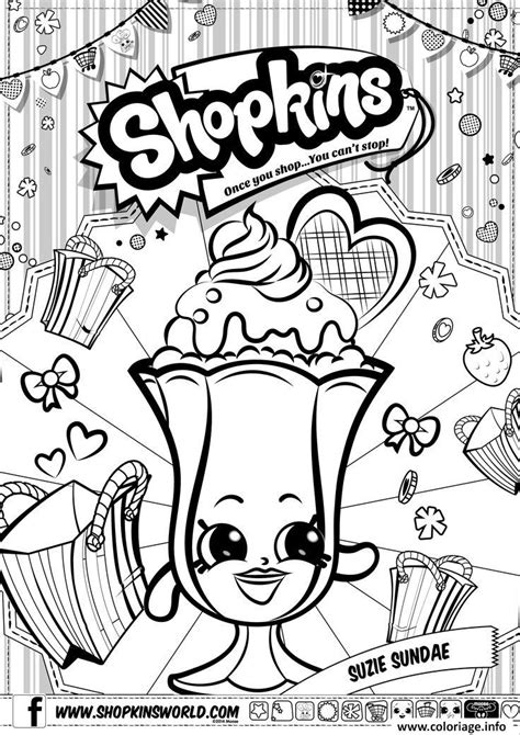 libro colour my sketchbook characters grayscale coloriage shopkins suzie sundae dessin