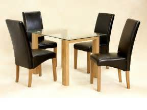 Small Oak Dining Table And 4 Chairs Glass Dining Table And 4 Chairs Clear Small Set Oak Wood