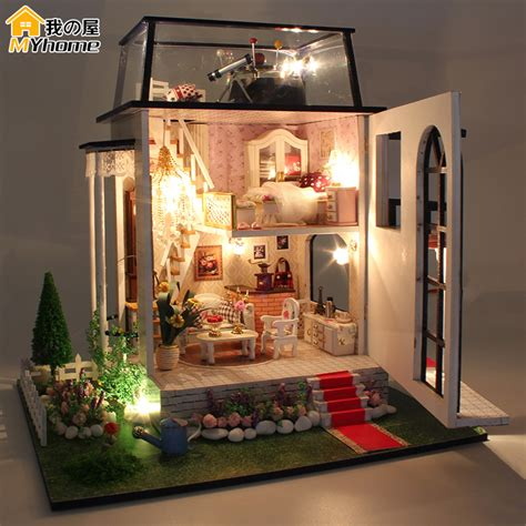 miniature dolls house furniture aliexpress com buy diy doll house miniature wooden building model little prince rose