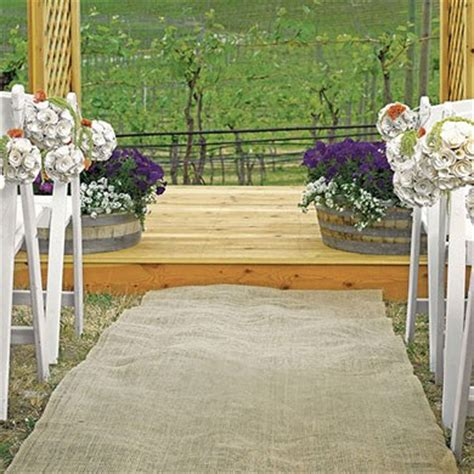 Wedding Aisle Material by Burlap Aisle Runner Outdoor Wedding Decor Flooring The