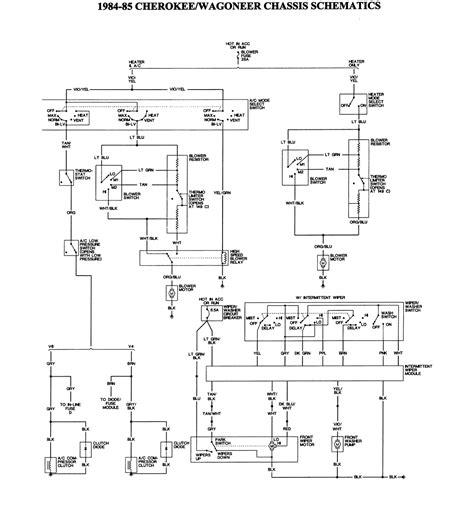1984 jeep wagoneer wiring diagram free wiring 1985 jeep chasis 1 of 2 large freeautomechanic