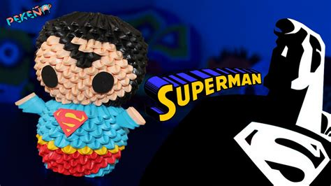 3d origami superman tutorial superman 3d origami peke 241 o youtube