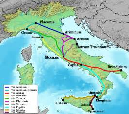 Rome Italy Map by Ancient Roman Roads Map File Map Of Roman Roads In