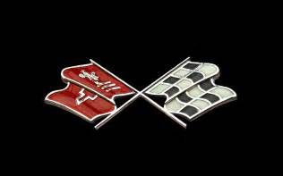 corvette crossed flags logos chevrolet corvette logo