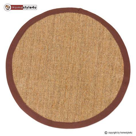 sisal teppich rund sisal teppich bord 252 renteppich naturfaser sisalteppich