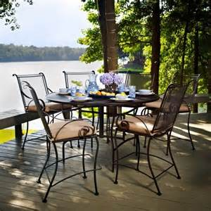 Counter Height Patio Sets by Meadowcraft Monticello Counter Height Patio Dining Set
