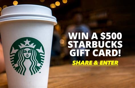 Win A 500 Amazon Gift Card - contest win a 500 starbucks gift card