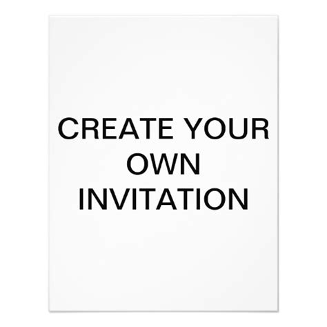 make your own create your own custom invitation 11 cm x 14 cm invitation