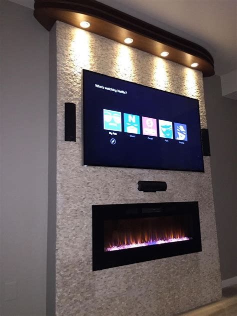 fireplace tv mount ideas best 25 wall mount electric fireplace ideas on