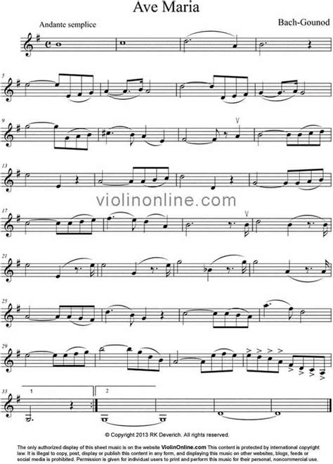 free printable sheet music ave maria violin online free violin sheet music ave maria from a