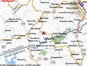 map of brevard carolina ash grove mountain cabins cing accommodation