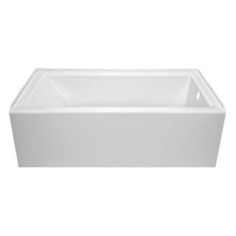 lyons industries linear 5 ft right drain soaking tub in