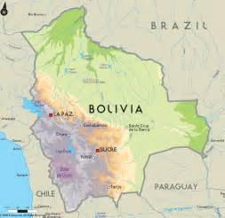 road map of bolivia and bolivia road maps