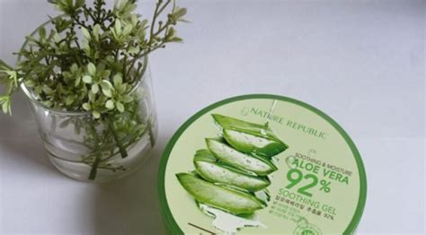 Nature Republic Aloe Vera 100 Soothing Gel review gel nha 苟am nature republic soothing moisture aloe