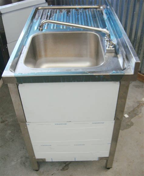 self stainless steel sink stainless steel self contained sink ebay