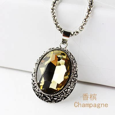 Owl Necklace Murah oval gemstone necklace 925 sterling silver kalung wanita