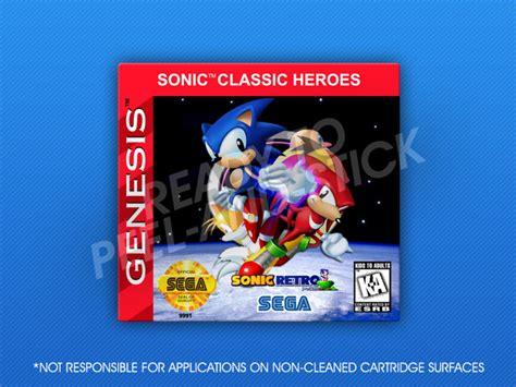 sonic heroes sega genesis sega genesis sonic classic heroes label retro cases