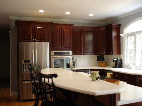 kitchen paint color ideas with cherry cabinets for cabinet doors wall stencils painting