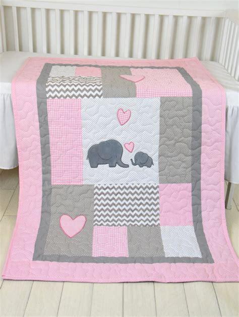 Baby Crib Bedding Patterns Pink Baby Blanket Elephant Crib Quilt Bedding Patchwork Bespread