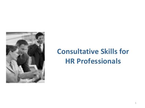 consultative skills for hr professionals