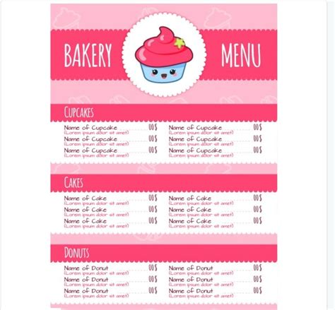 Free Bakery Menu Template 30 bakery menu template free psd ai indesign and eps