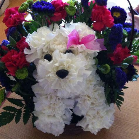 puppy bouquet flower puppy bouquet let s get creative