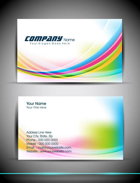 abstract business card template  vector  adobe