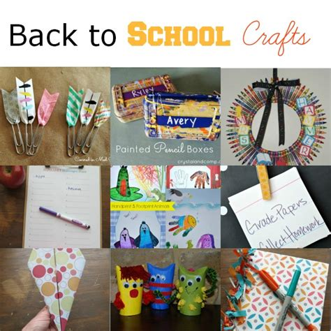 back to school crafts for activities for back to school activities
