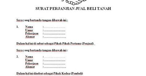 gambar yang contoh surat perjanjian jual beli tanah 2013