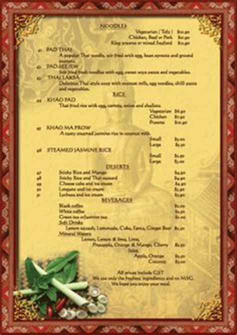 thai dinner menu ideas 1000 images about thai menu design on thai