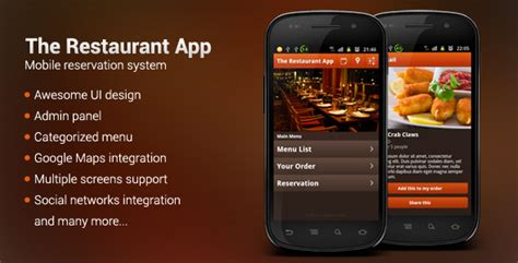 restaurant app template 9 useful android source codes for building restaurant app