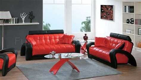 red and black living room furniture black and red leather modern living room sofa