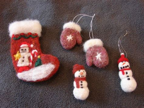 messes masterpieces and me felted christmas ornaments