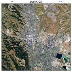 aerial photography map of dublin ca california