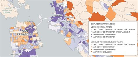 san francisco gentrification map mapping displacement and gentrification in the san