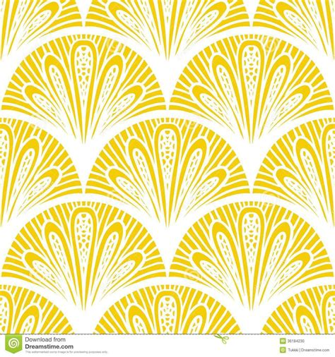 pattern design art art deco vector geometric pattern in bright yellow