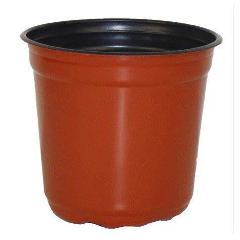 5 quot taller gloss terracotta flower pot
