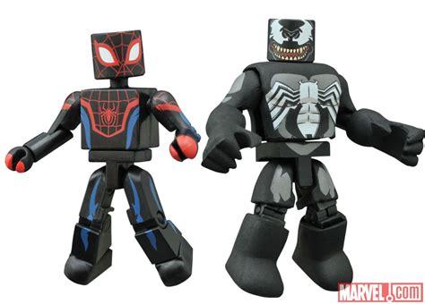 Venom Marvel Figure Mini Mates marvel animated minimates series 1 5 revealed the toyark news