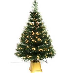 pre lit artificial fiber optic christmas tree 32