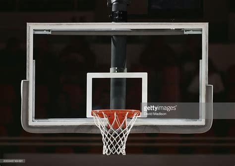 basketball hoop backboard basketball hoop net and backboard closeup stock photo