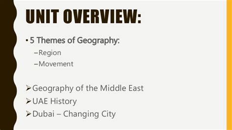 5 Themes Of Geography Uae | intro to the middle east