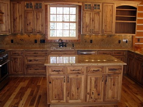 Rustic Kitchen Furniture Rustic Hickory Kitchen Cabinets Solid Wood Kitchen Furniture Ideas